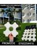 Set matrite tip CUB 3 D din polipropilena (Cu conicitate) - Pentru fabricare manuala